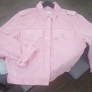 Pink Gap jacket. Soft fabrics